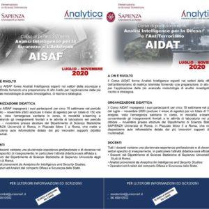 Corso di perfezionamento dell'Università La Sapienza di Roma e di Analytica for intelligence and security studies